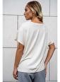 Silk and Cashmere İpek Karışımlı Monica V Yaka Yarasa Kol Bluz Taş